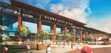 Globe Life Park, Photo: Texas Rangers/HKS Architects