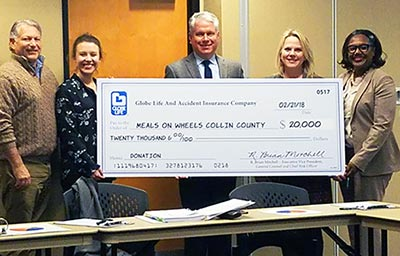 Globe Life Donates $20K to Meals on Wheels Collin County article thumbnail